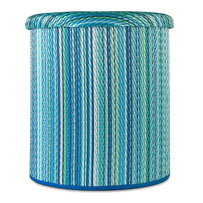 Alternate image 1 for Cancun Outdoor Round Storage Pouf