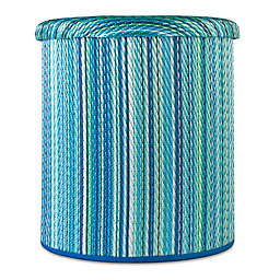 Cancun Outdoor Round Storage Pouf