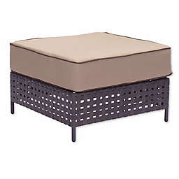 Zuo® Pinery Outdoor Ottoman in Brown/Beige