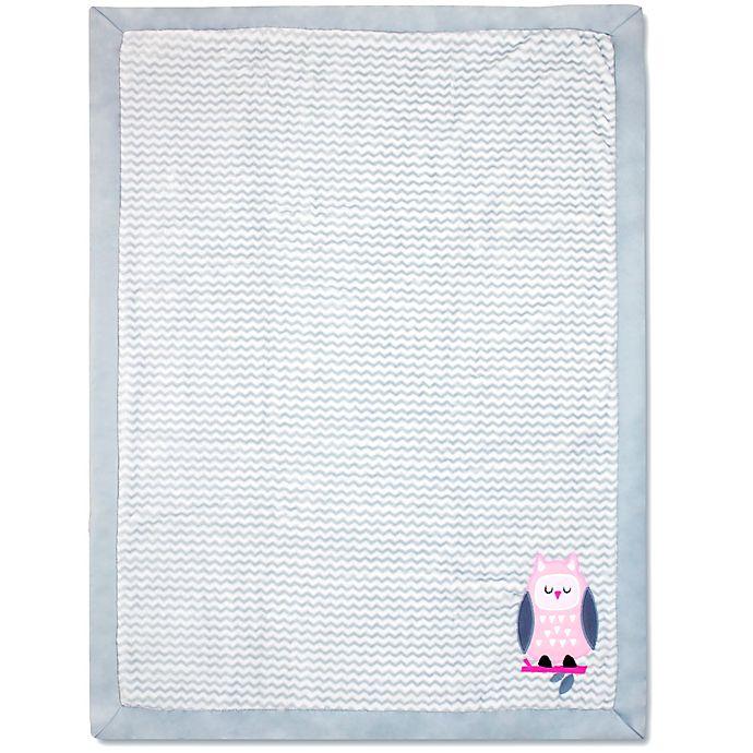 Wendy Bellissimo Mix Amp Match Owl Applique Plush Blanket