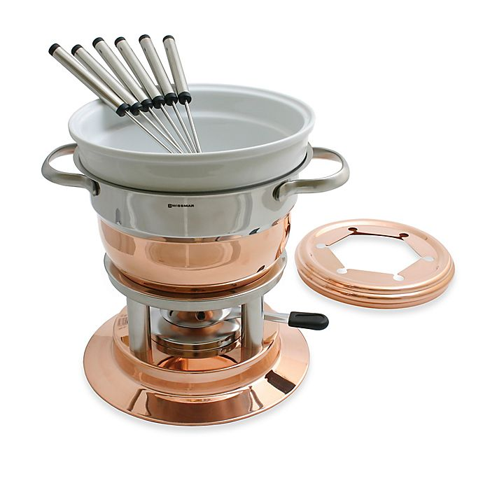 Alternate image 1 for Swissmar® Lausanne 11-Piece Copper Fondue Set