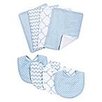Trend Lab® 8-Piece Blue Sky Bib and Burp Cloth Set in Blue