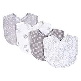 Trend Lab® 4-Piece Circles Bib Set in Grey/White