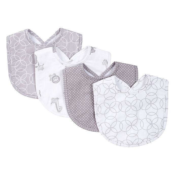 Alternate image 1 for Trend Lab® 4-Piece Circles Bib Set in Grey/White