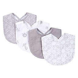 Trend Lab® 4-Piece Circles Bib Set in Grey/White