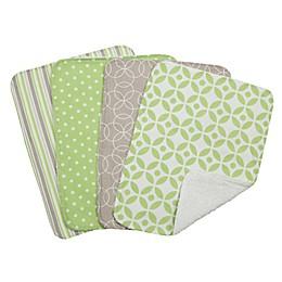 Trend Lab® 4-Piece Lauren Burp Cloth Set in Green