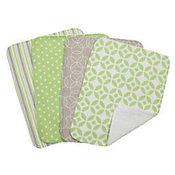 Trend Lab® 4-Piece Lauren Burp Cloth Set in Green