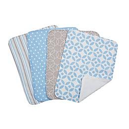 Trend Lab® 4-Piece Logan Burp Cloth Set in Blue