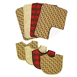 Trend Lab® 8-Piece Northwoods Bib and Burp Cloth Set