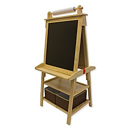 Little Partners Deluxe Learn and Play Art Center Easel in Natural