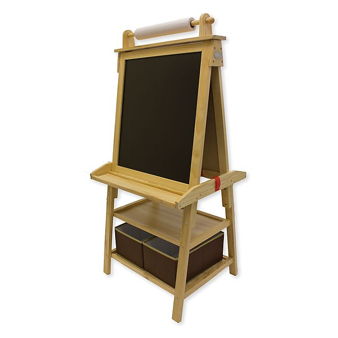 Alternate image 1 for Little Partners Deluxe Learn and Play Art Center Easel in Natural
