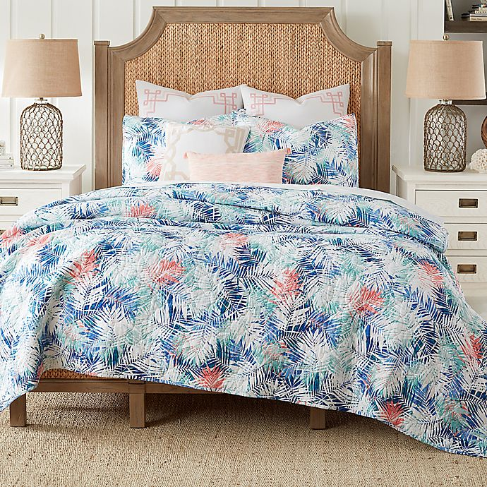 Alternate image 1 for Coastal Living® Coastal Palm Reversible Mini Quilt Set