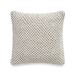Richfield Macramé Wind Chime Square Throw Pillow in Natural