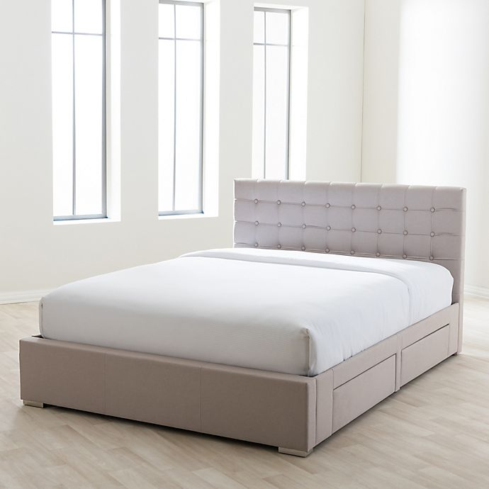 Alternate image 1 for Baxton Studio Rene Storage Platform King Bed