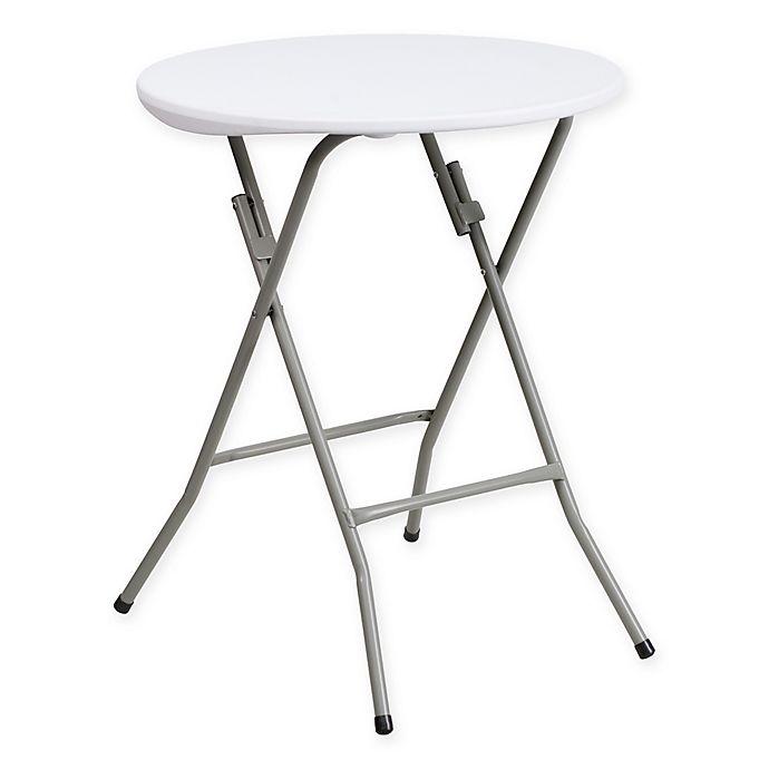 Brilliant Flash Furniture Plastic Round Granite Folding Table In White Beatyapartments Chair Design Images Beatyapartmentscom