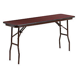 Flash Furniture Rectangular Wood Folding Table in Mahogany