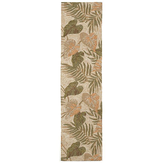 Alternate image 1 for Liora Manne 2-Foot x 8-Foot Ravella Tropical Leaf Indoor/Outdoor Rug