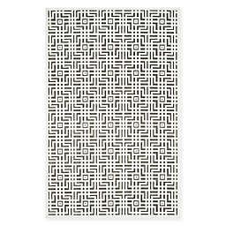 Safavieh Paradise Grid Rug in Ivory/Dark Grey