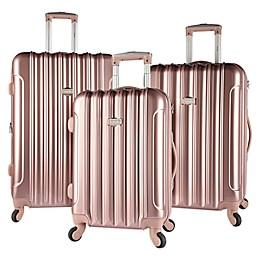 Kensie Metallic 3-Piece Hardside Spinner Luggage Set