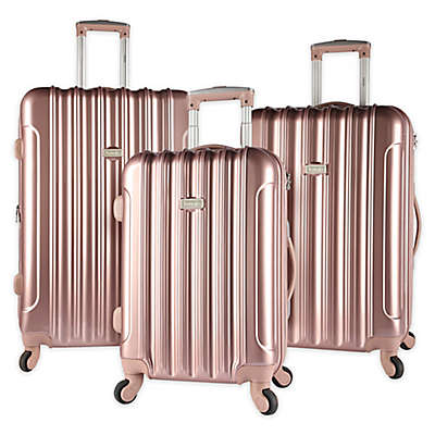 Kensie Metallic 3-Piece Hardside Spinner Luggage Set