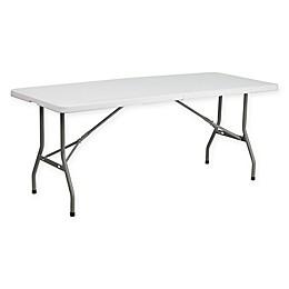 Flash Furniture Plastic Folding Table in White