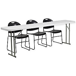 Flash Furniture 4-Piece Folding Table and Chairs Set
