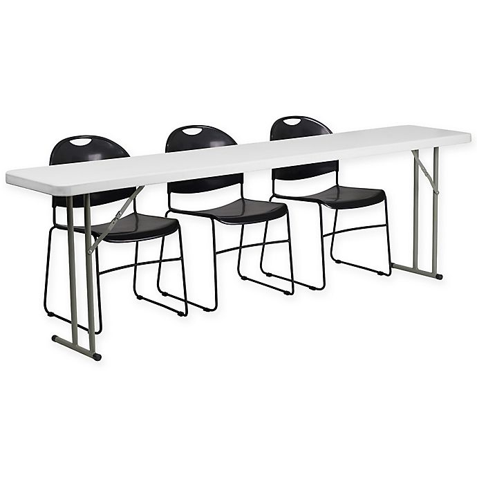 Buy Flash Furniture 4 Piece Folding Table And Chairs Set