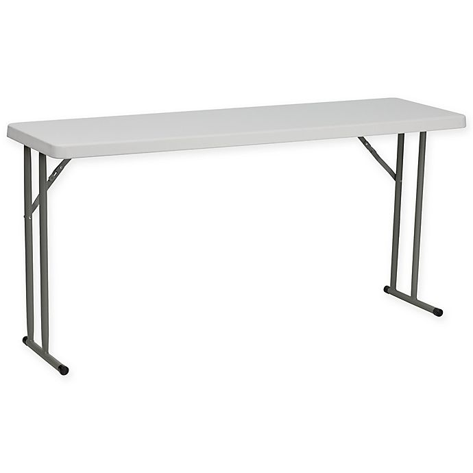 Alternate image 1 for Flash Furniture 5-Foot Plastic Folding Table in White