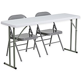 Flash Furniture 3-Piece Folding Table and Chairs Set