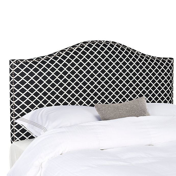 Alternate image 1 for Safavieh Connie Full Headboard in Black/White Lattice