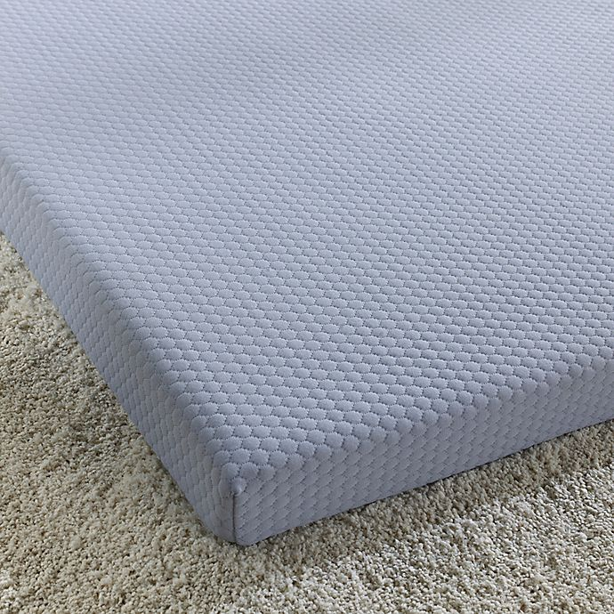 Alternate image 1 for Simmons® Siesta 3-Inch Roll-Up Memory Foam Twin Mattress in Blue