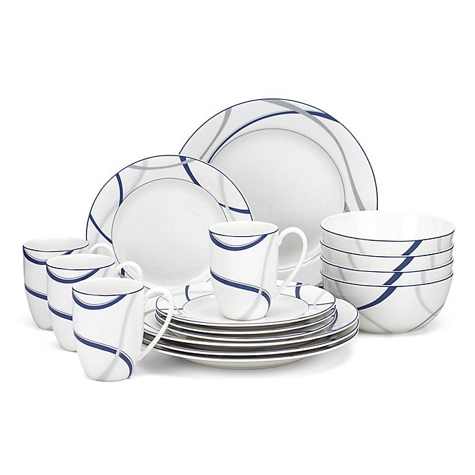 Alternate image 1 for Lenox® Vibe™ 16-Piece Dinnerware Set in Blue
