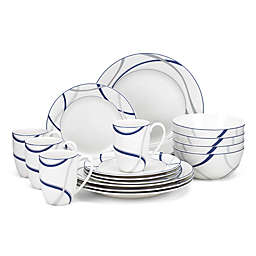 Lenox® Vibe™ 16-Piece Dinnerware Set in Blue
