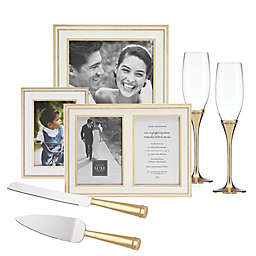 Reed & Barton Luxe Collection Facets Fine Giftware in White/Gold