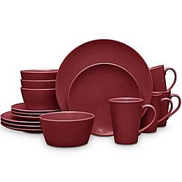 Noritake® Red on Red Swirl Coupe 16-Piece Dinnerware Set
