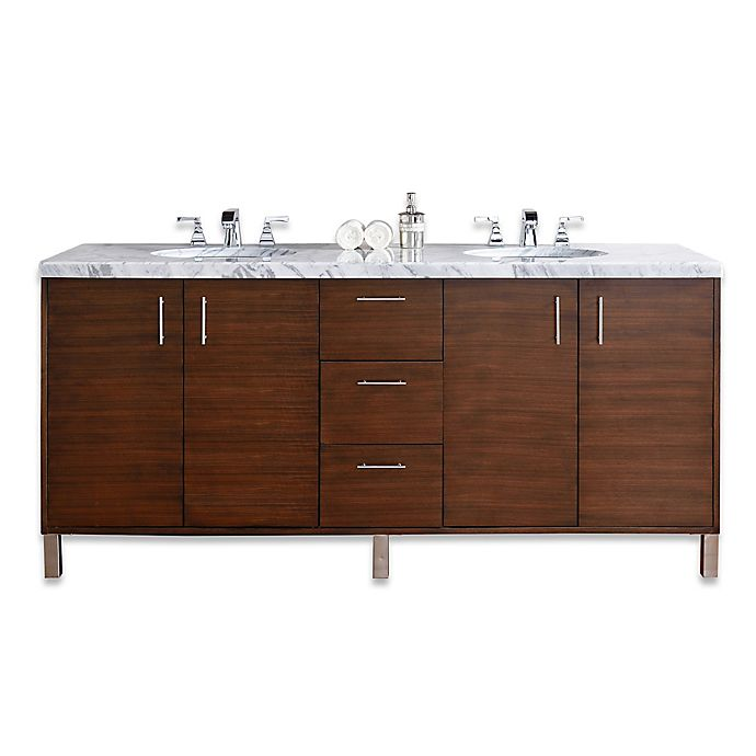 James Martin Furniture Metropolitan 72 Inch Double Vanity Base Collection In Walnut