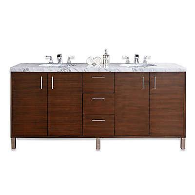 James Martin Furniture Metropolitan 72-Inch Double Vanity Base in Walnut