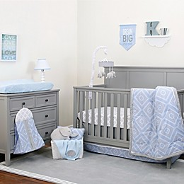 NoJo® Dreamer Diamond Crib Bedding Collection in Blue/Grey