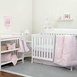 NoJo® Dreamer Floral 8-Piece Crib Bedding Set in Pink/Grey