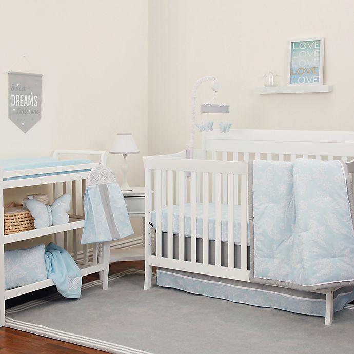 Alternate image 1 for NoJo® Dreamer Floral 8-Piece Crib Bedding Set in Mint/Grey