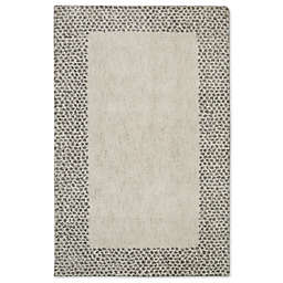 Mohawk Home Laguna Spotted Border 8-Foot x 10-Foot Area Rug in Grey