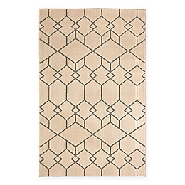 Mohawk Home Loft Interlocking Blocks Area Rug in Cream
