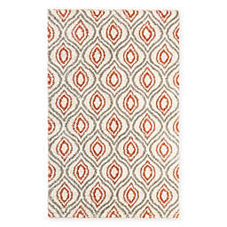 Mohawk Home Laguna Ogee Waters 5-Foot x 8-Foot Area Rug in Coral
