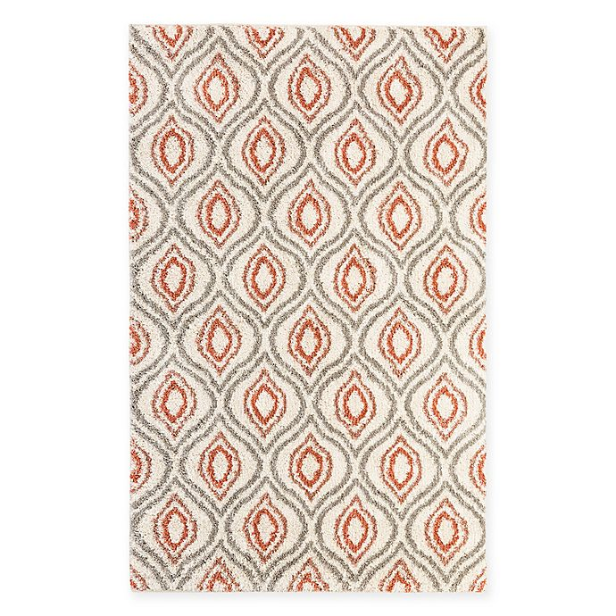 Alternate image 1 for Mohawk Home Laguna Ogee Waters 8-Foot x 10-Foot Area Rug in Coral