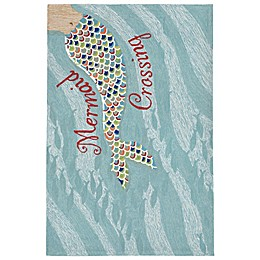 Liora Manne Mermaid Crossing Rug in Water