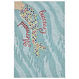 Liora Manne Mermaid Crossing Rug in Water