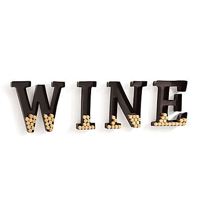 "Danya B. Metal ""Wine"" Letters Cork Holder"