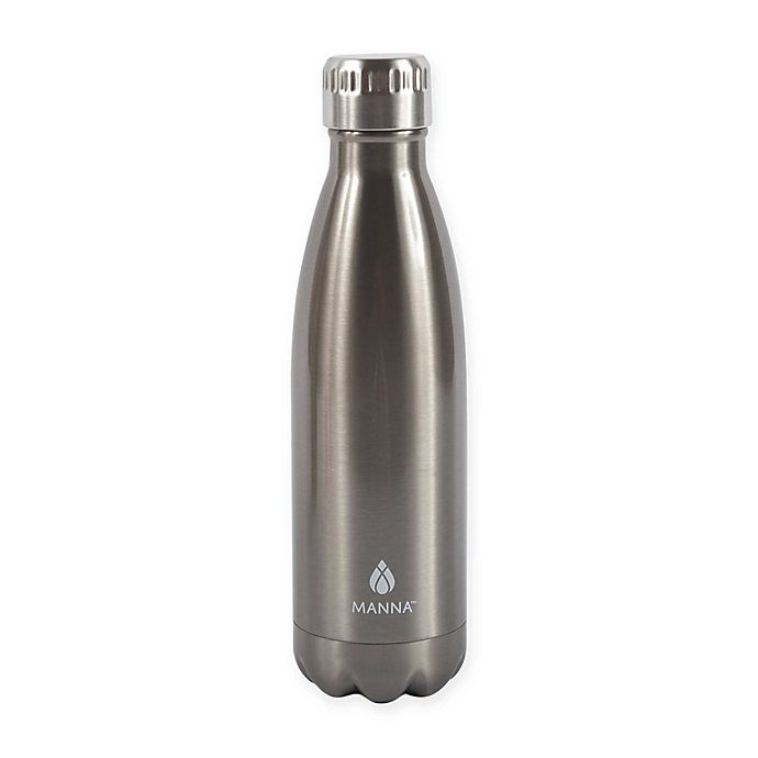 Alternate image 1 for Manna™ Vogue® Stainless Steel Double Wall Water Bottle