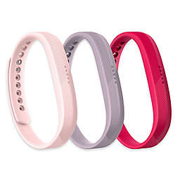 Fitbit™ Flex 2™ Wristband Accessory 3-Pack in Pink/Lavender/Fuchsia