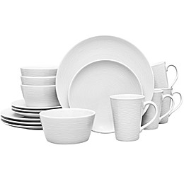 Noritake® White on White Swirl Round 16-Piece Dinnerware Set